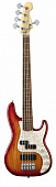 Fender AMERICAN DELUXE P-BASS ASH RW AGED CHERRY BURST бас-гитара, цвет санбёрст